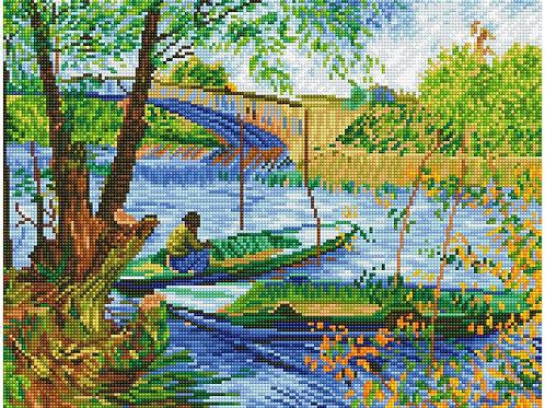 Diamond Dotz - Fishing in Spring (Van Gogh)