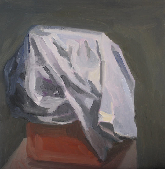 Cloth and canister, Oil on canvas, 30 x 30cm.