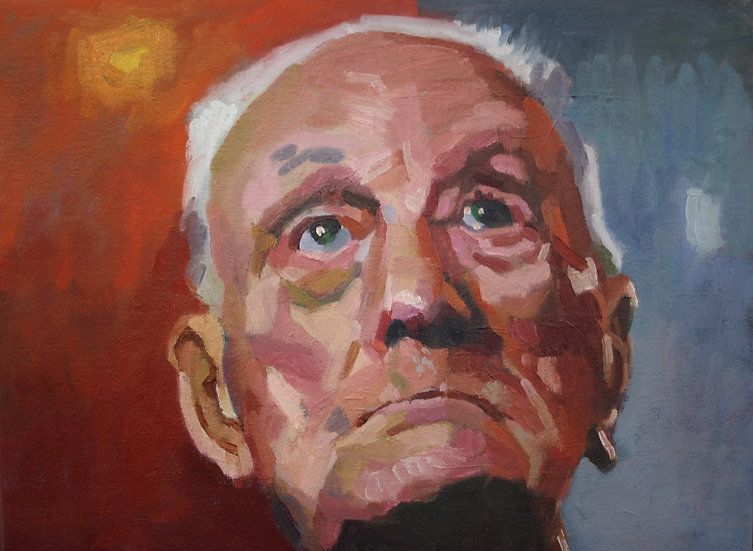 Ex coal miner, Oil on canvas, 30 x 40 cm.