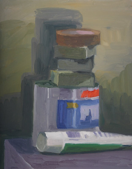 Decorating equipment, Oil on canvas, 40 x 33 cm.