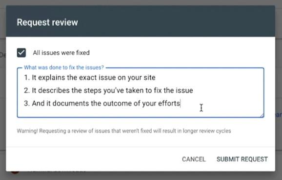 גוגל רוצה לוודא שטיפלתם בבעיה