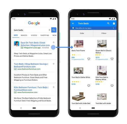 חיזוק הקשר בין גוגל לאפליקציית המוכר