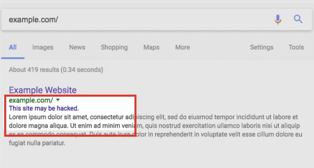 גוגל לא מבדילה בין סוגי ניסיונות פריצה