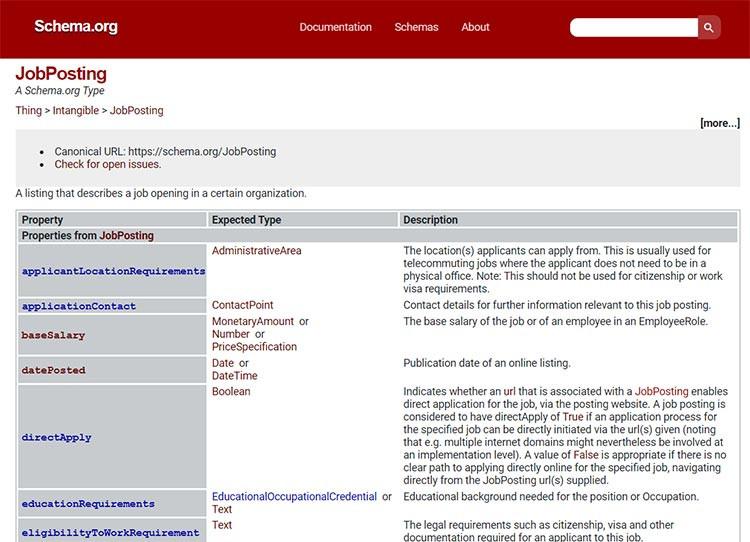 המאפיין directApply החדש של הסימון JobPosting