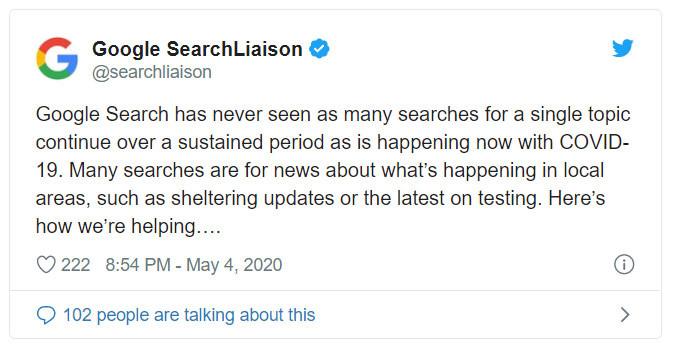 מעולם לא נערכו כל כך הרבה חיפושים אחר נושא בודד