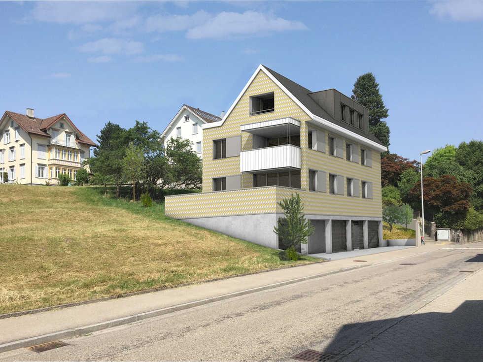 Neubau MFH Haldenstrasse Gossau SG | 3 Geschosswohnungen | chameleon ag