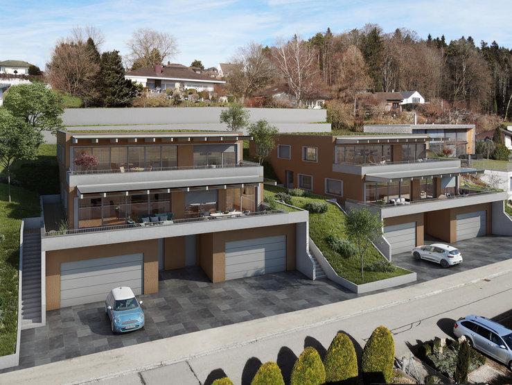 Neubau Terrassenhäuser Wil SG   4 Geschosswohnungen