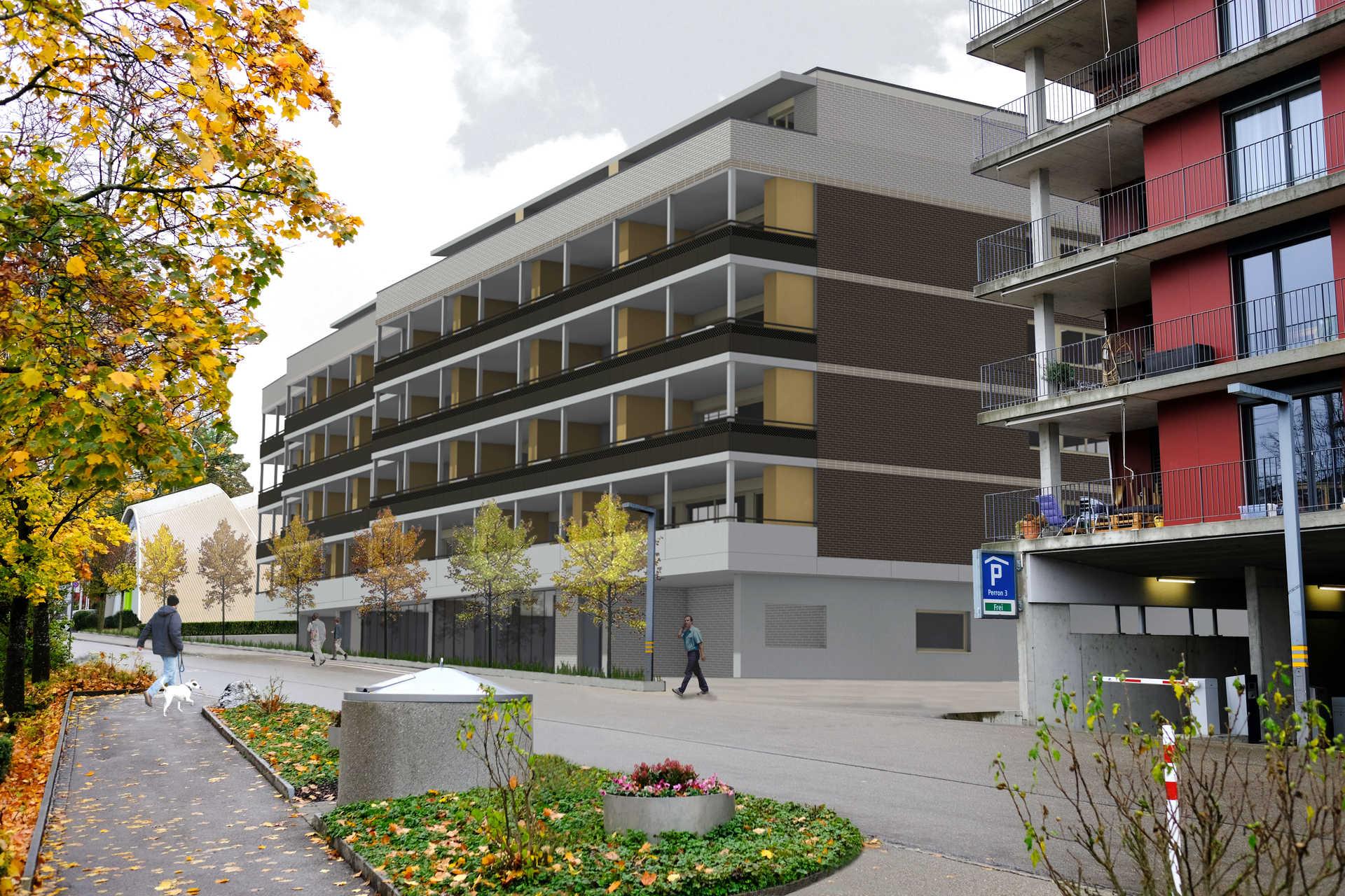 SNP Stadtbühl Gossau SG   35 Wohnungen / Erdgeschoss Gewerbe   PKTG