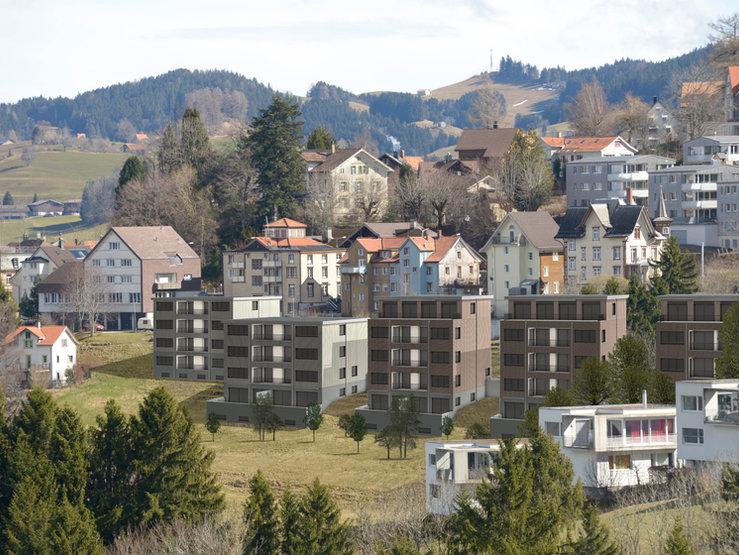 """Neubau """"Halden"""" Trogen AR   43 Wohnungen"""