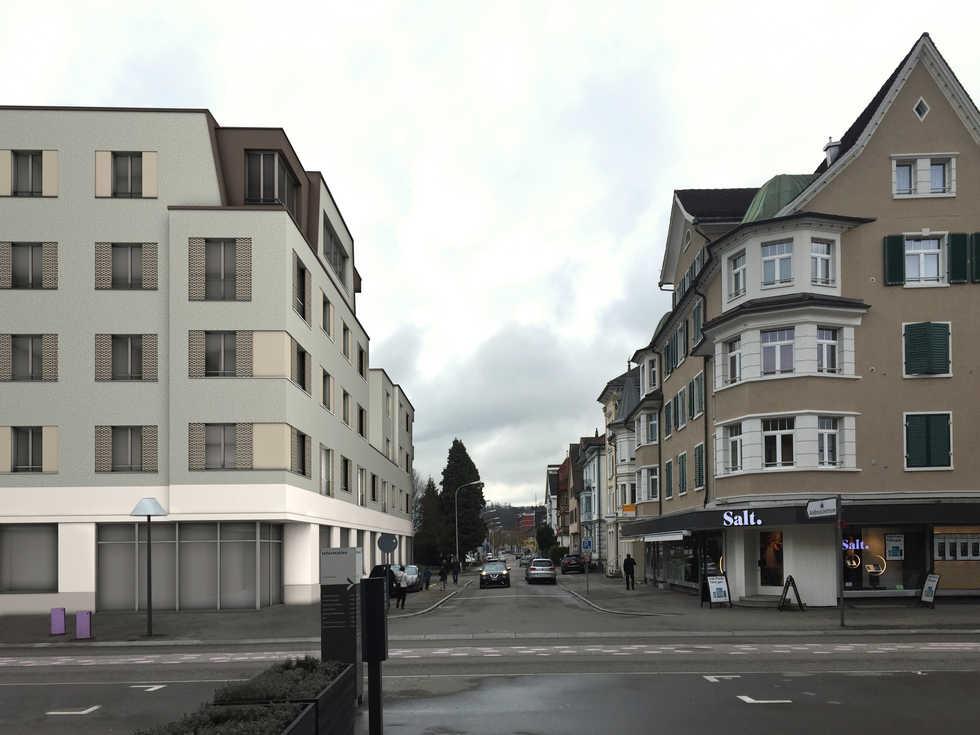 SNP St.Gallerstrasse - Bahnhofstrasse Gossau SG | 15 Wohnungen / Erdgeschoss Gewerbe