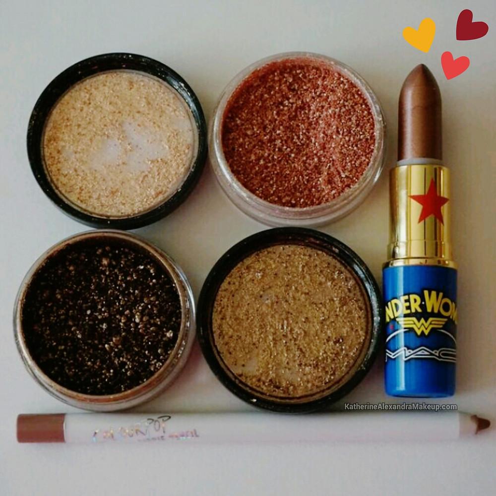 M.A.C Solar Bits, Frost Lipstick & Colourpop Lippie Pencil