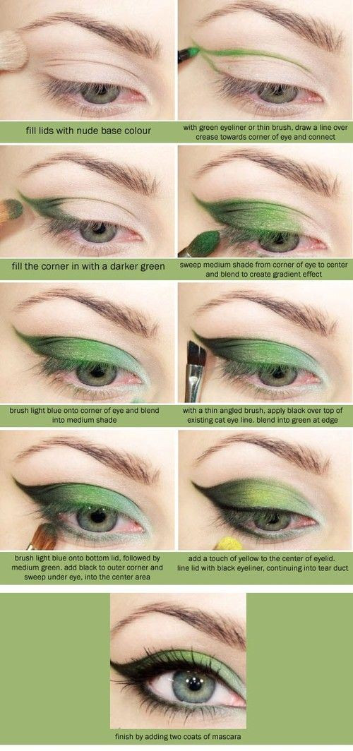 Amazing Green Eye Shadow Pictorial