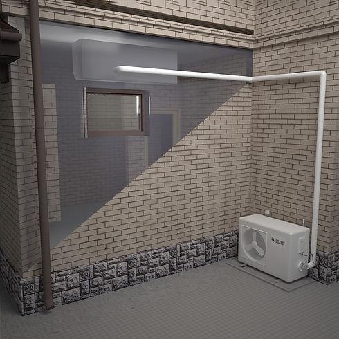 heat pump installation extra metres diag