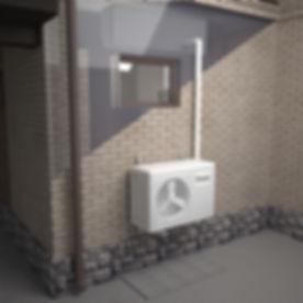 heat pump installation bracket diagonal
