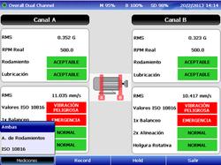 Diagnóstico máquina Dual channel