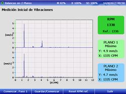 Espectros de vibraciones iniciales