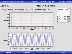 Espectro y forma de onda vibraciones