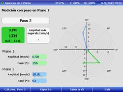 Paso 2 medición de vibración