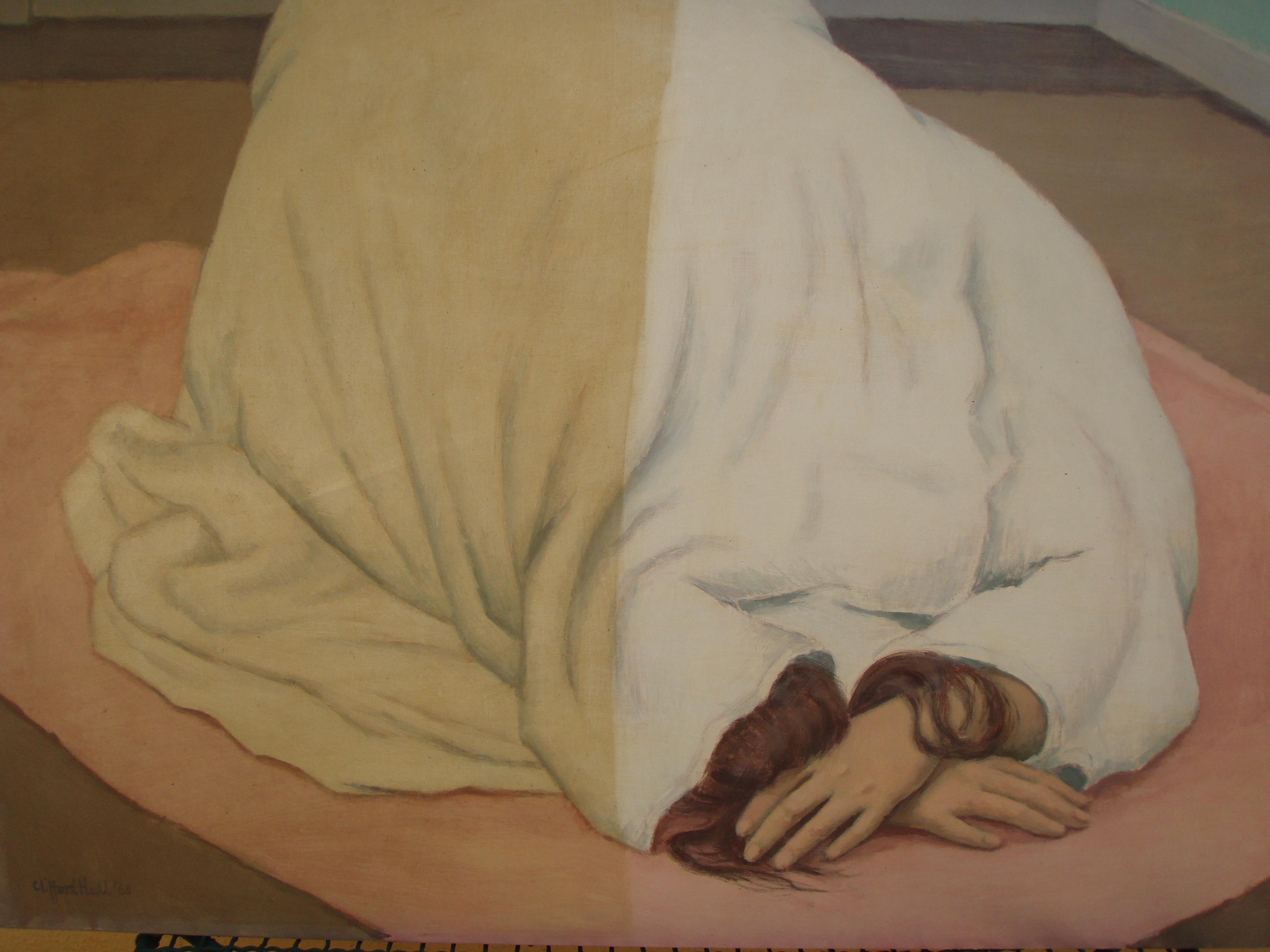 Lady kneeling, Oil on canvas