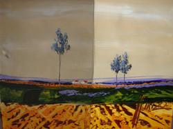 Farmlands, Oil on canvas