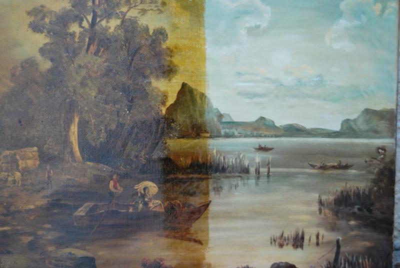 River scene, Oil on canvas