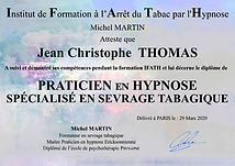 jean-Christophe Thomas - Hypnose - hypnotherapeute certifié arrêt tabac sevrage tabagique IFATH