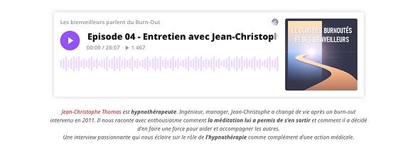 podcast hypnose et burnout - jean-christophe thomas