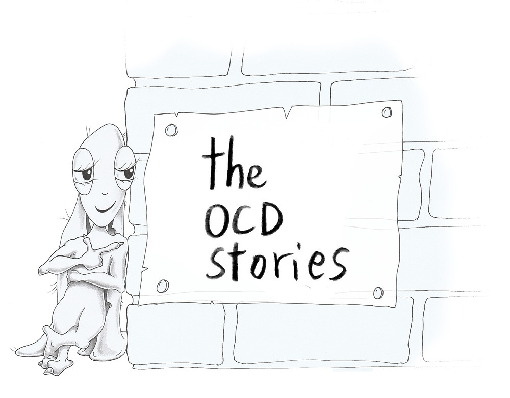 A picture of Olivia posing with The OCD Stories logo