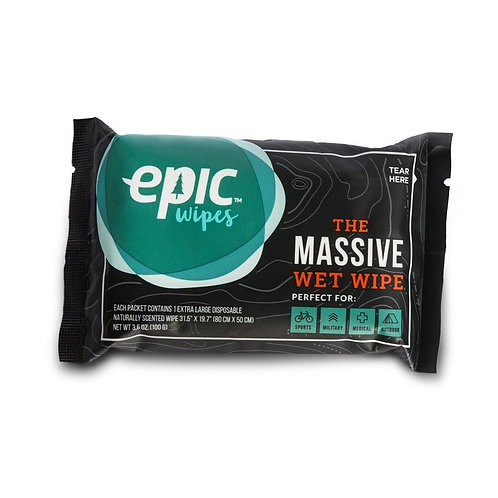 Epic Wipes, massive wet wipes shower substitute