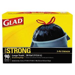 GLAD 70313 Drawstring Outdoor 30-Gallon Trash Bags