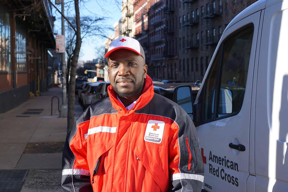 Red Cross worker Jason Lyons
