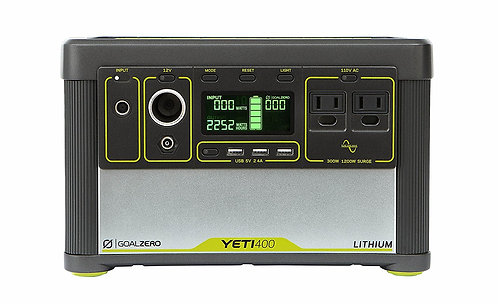 Goal Zero Yeti 400 Lithium Portable Power Station,  Rechargeable Generator