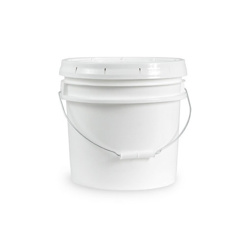 5 Gallon White Bucket & Lid - Set of 6