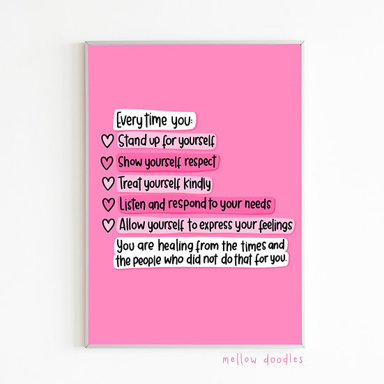 Stand Up For Yourself Print