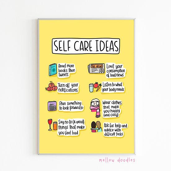 Self Care Ideas Print