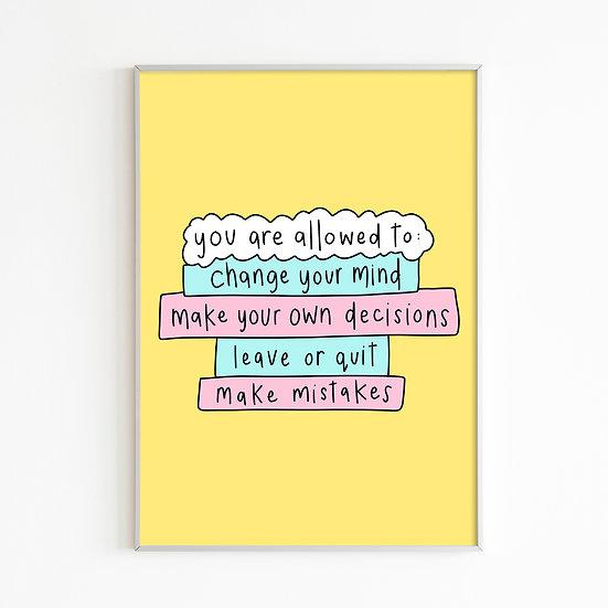 Change & Mistakes Print