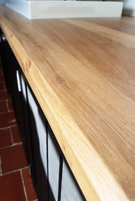 Oak kitchen worktop
