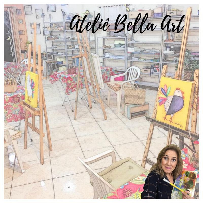 Aulas de pintura no Ateliê Bella Art