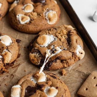 Gluten Free S'mores Cookies (Dairy Free, Low FODMAP)