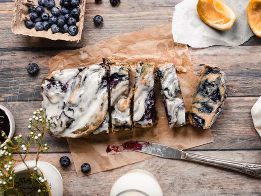 Vegan Blueberry Lemon Twist Bread (Gluten Free, Dairy Free)