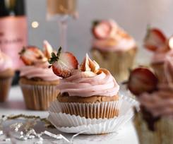 Strawberries & Champagne Cupcakes (Gluten Free, Dairy Free)