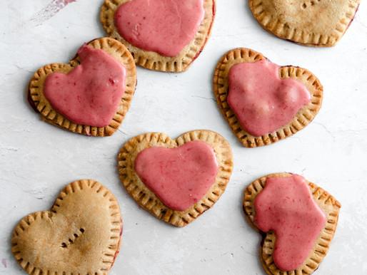 Paleo Strawberry Heart Pop Tarts (Vegan Friendly, Gluten Free)