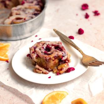 Vegan Lemon Raspberry Sweet Rolls (Gluten Free, No Yeast!)