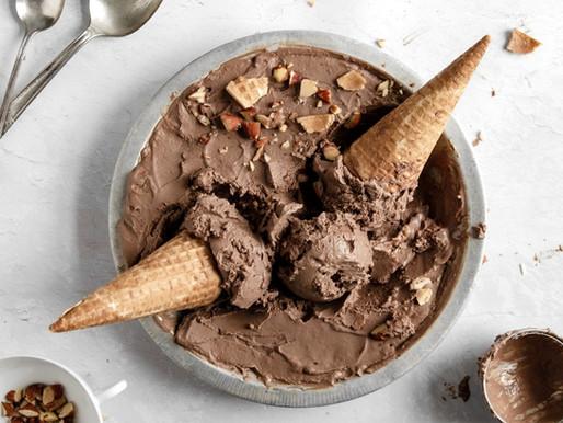 Paleo Chocolate Toasted Almond Ice Cream