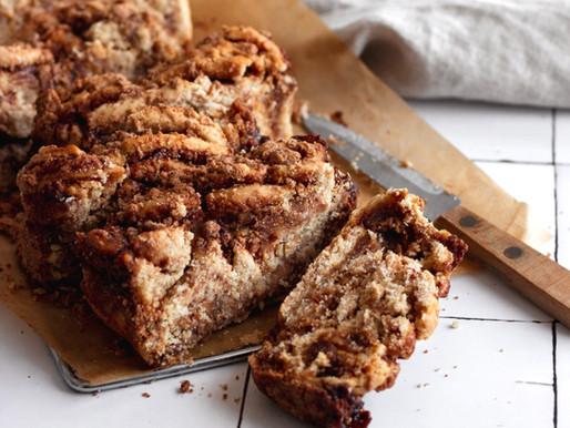 Vegan Cinnamon Streusel Twist Bread (Gluten Free, Refined Sugar Free)