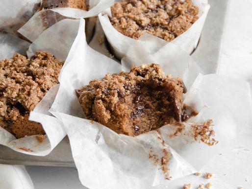 Grain-Free Cinnamon Swirl Crumble Muffins (Dairy Free, Paleo, Nut Free)