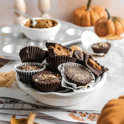 Chocolate Pumpkin Butter Cups (Vegan, Paleo, No Bake)