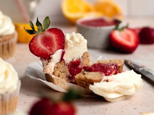 Gluten Free Strawberry Lemonade Cupcakes (Dairy Free, Low FODMAP)