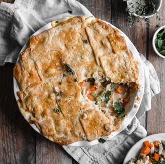 Paleo Hearty Chicken Pot Pie (Low FODMAP, Vegan-Friendly)