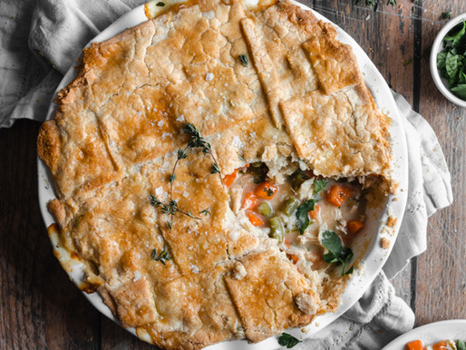 Paleo Hearty Chicken Pot Pie (Low FODMAP, Vegan-Friendly)